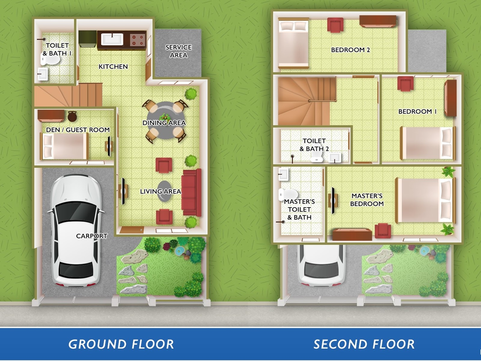 Floor Plan of Alyssa With Fence - Lancaster New City Cavite   House and Lot for Sale General Trias Cavite