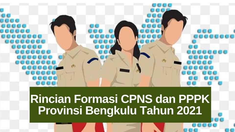 Rincian Formasi CPNS dan PPPK Provinsi Bengkulu Tahun 2021
