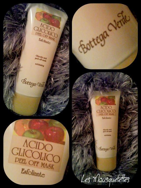 Masque exfoliant Acido Glicolico Peel Off Mask Bottega Verde - Les Mousquetettes©