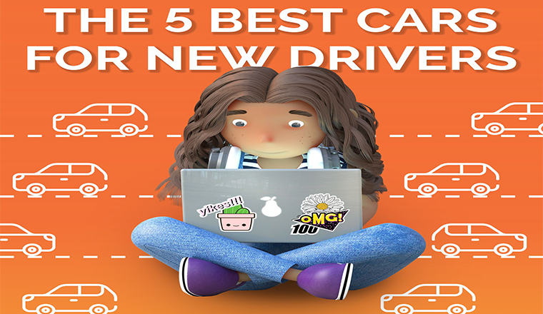 The 5 Best Cars For New Drivers #Infographic