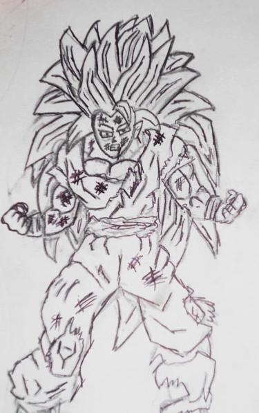 Drawing Is Easy Goku Super Siyain 3 Ssj3