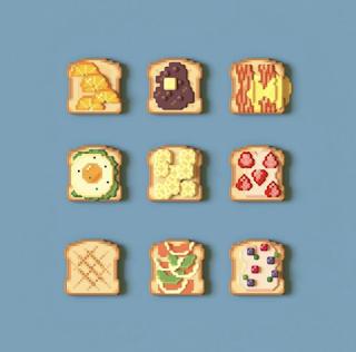 Voxel Art Toast