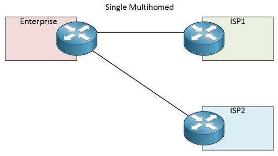 2. Multihomed AS