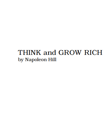 Think And Grow Rich By Nepolian Hill