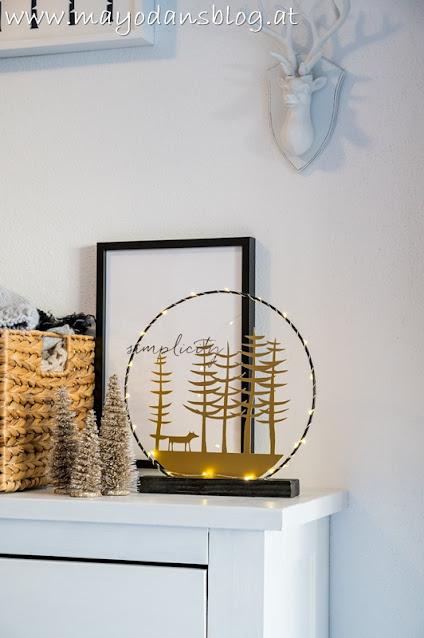 DIY weihnachtlicher Lichterkranz
