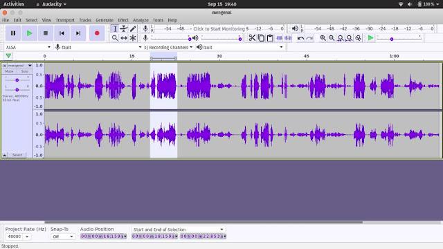 Audacity Alternatif Adobe Audition untuk Linux