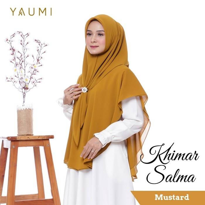 Yaumi Hijab Khimar Salma Mustard