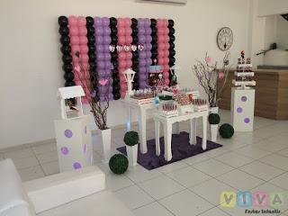 Decoração festa infantil Monster High