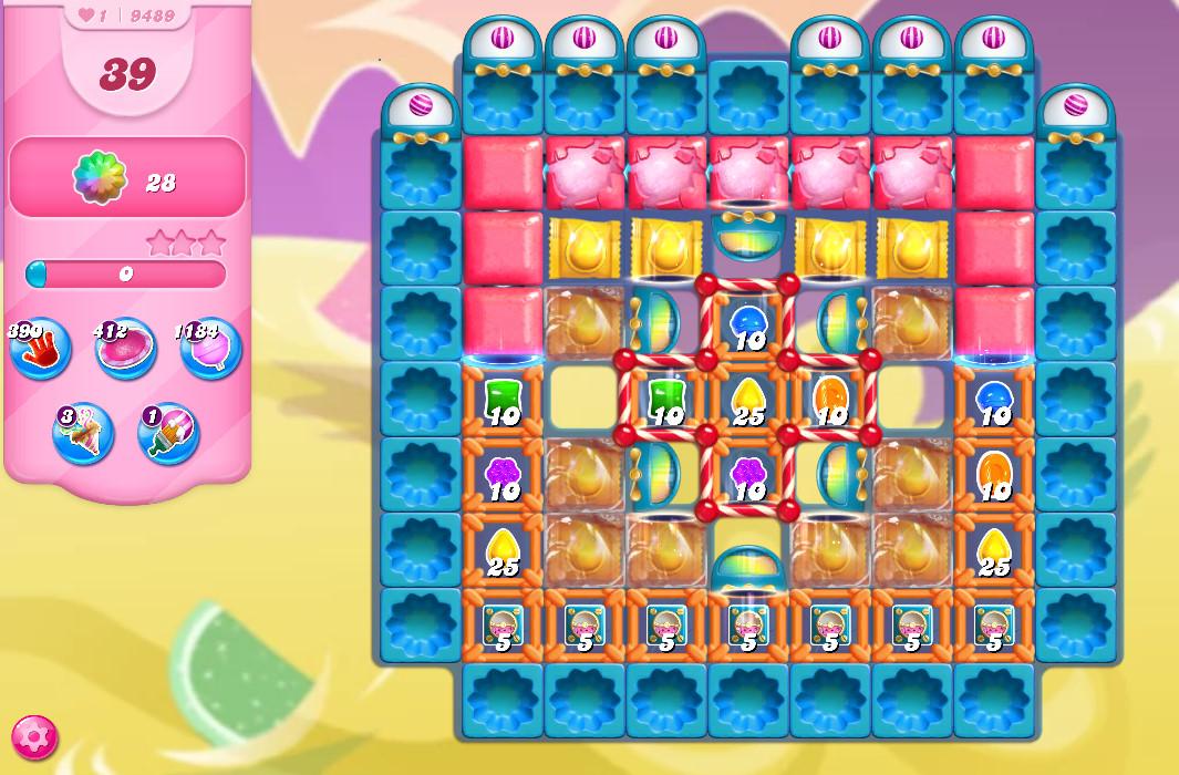 Candy Crush Saga level 9489