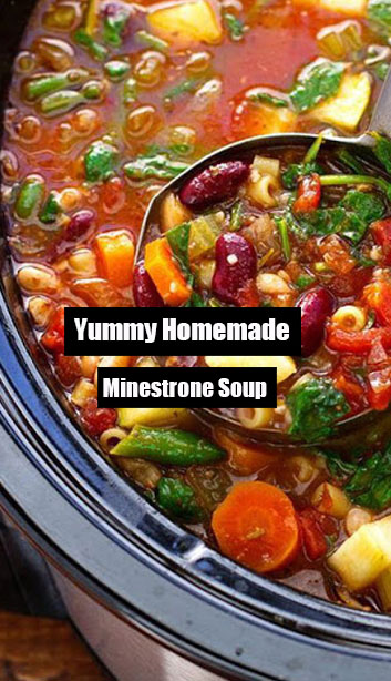 Yummy Homemade Minestrone Soup