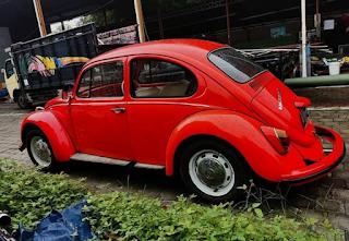 Lapak VW Klasik Warna Merah PDI Beetle 1200cc 1973