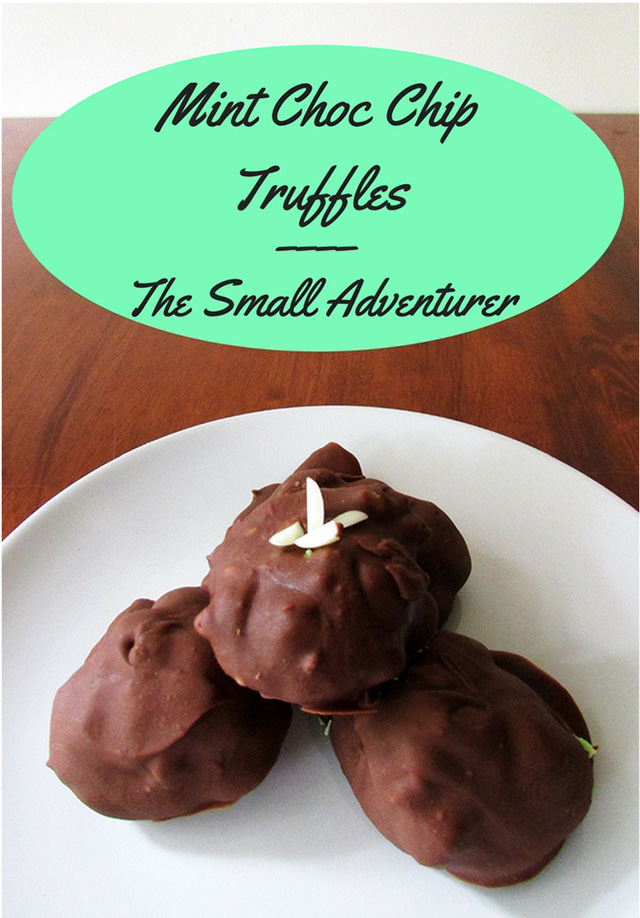 Mint Choc Chip Truffles | The Small Adventurer