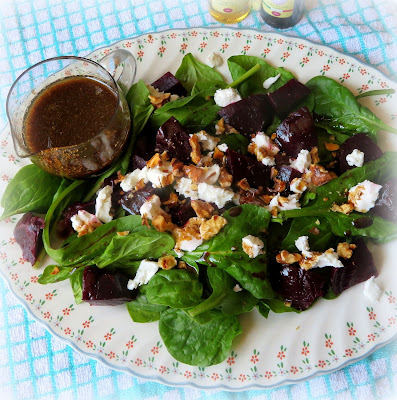 Beetroot, Goat's Cheese  & Toasted Walnut Salad
