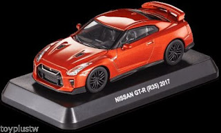 1/60 NISSAN GT-R (R35) 2017 Diecast Car BOX+STAND TAIWAN 7-11 LIMITED