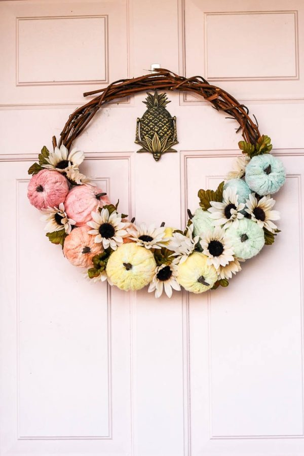 Tie-Dye Pumpkin Wreath