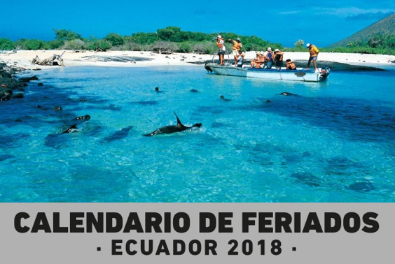 Calendario de Feriados 2018 Ecuador