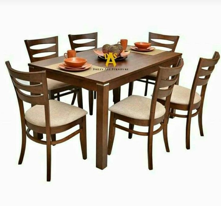 Meja Makan Kayu Jati Minimalis 6 Kursi Asli Jepara Bezatish Furniture
