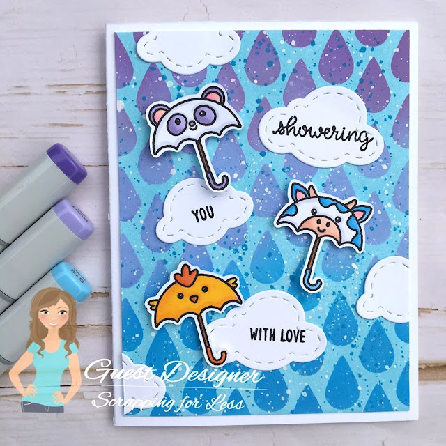 Sunny Studio Stamps: Spring Showers Customer Card by Meghan Kennihan