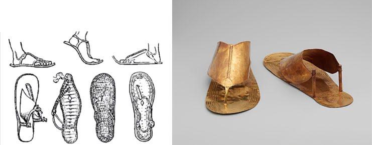 ef10d3b99 Ejemplos de modelos de sandalias del antiguo Egipto  Sandalias del Imperio  Nuevo