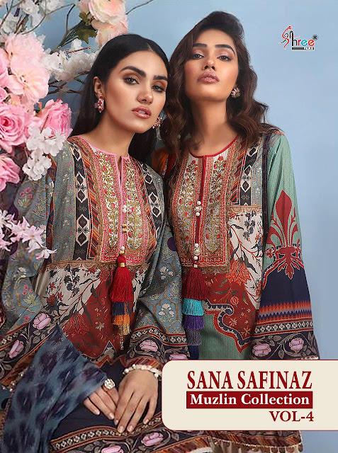 Shree fab Sana Safinaz Muzlin Collection vol 4 Pakistani Suits