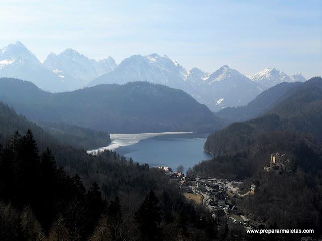 los alpes en Baviera