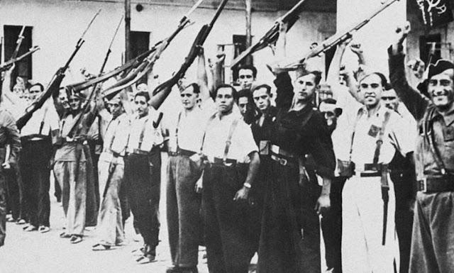 Ισπανικός εμφύλιος, πολίτες που κρατούν όπλα