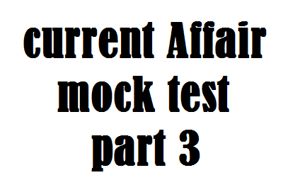 Current Affair Mock test series