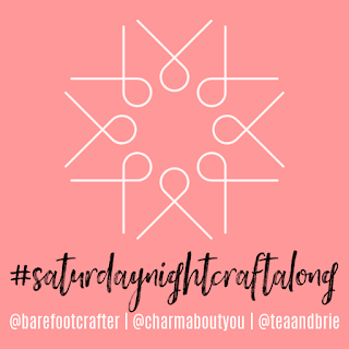 #saturdaynightcraftalong logo for Charm About You
