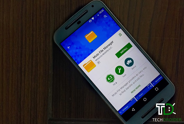 Moto File Manager Makes Its Way Into the Google Play Store