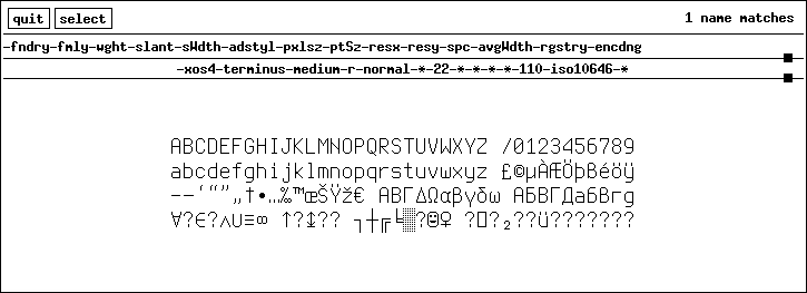 X11 - Xorg fonts utilities