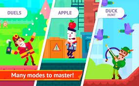 تحميل لعبة ربان القوس Bowmasters مهكرة للاندرويد اخر اصدار من ميديا فاير برابط تحميل مباشر مجاناً