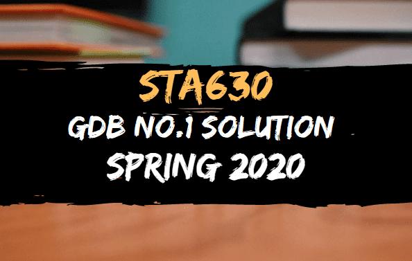 STA630