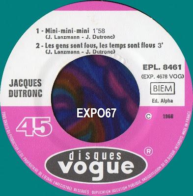 Jacques Dutronc Mini Mini Mini