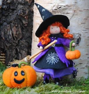 Wat Zeg Je Met Halloween.Viltcreaties Corina Halloween Heksjes