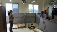 Produksi Meja Sekat Partisi Kantor Knockdown di Semarang Jawa Tengah