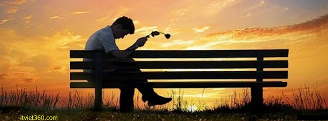 Ảnh bìa Facebook cô đơn, buồn - Alone Cover timeline FB,