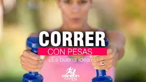 correr con pesas