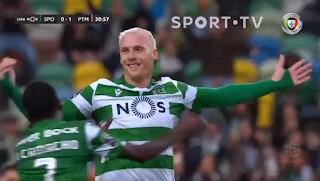 Former Barca star Matthieu scores stunning free-kick for Sporting (Video)