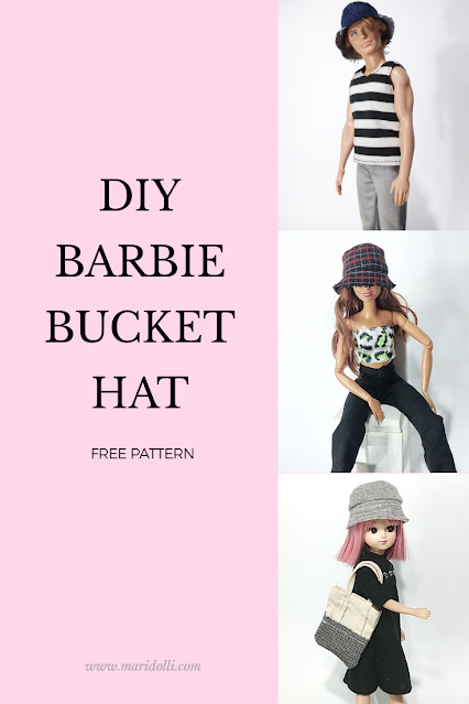 diy barbie bucket hat