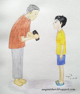 ilustrasi-cerita-anak-dompet-di-pinggir-jalan