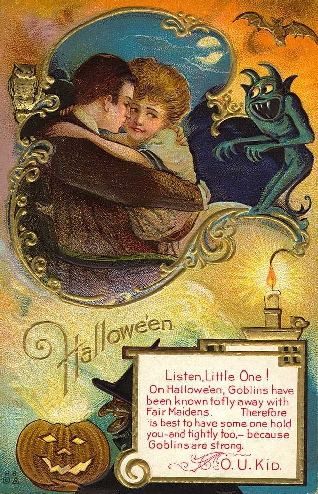 Старинные открытки в честь Хэллоуина - 06