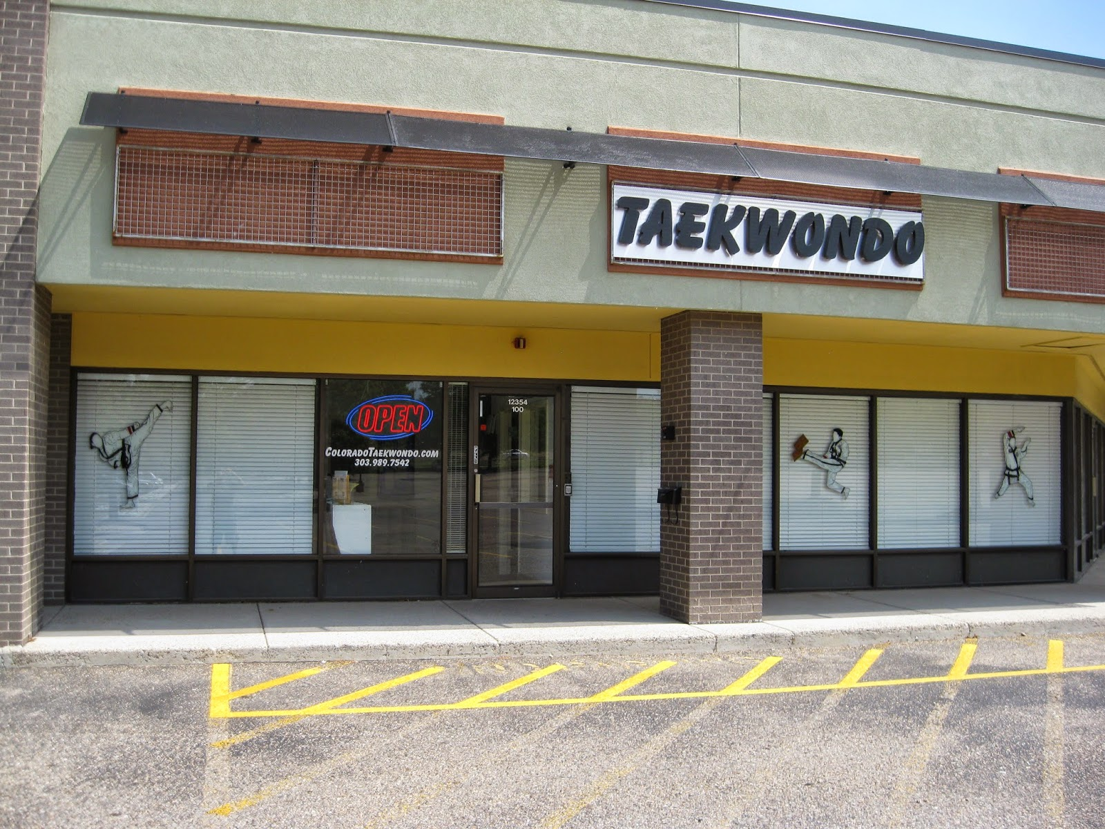 The front of the Lakewood martial arts school