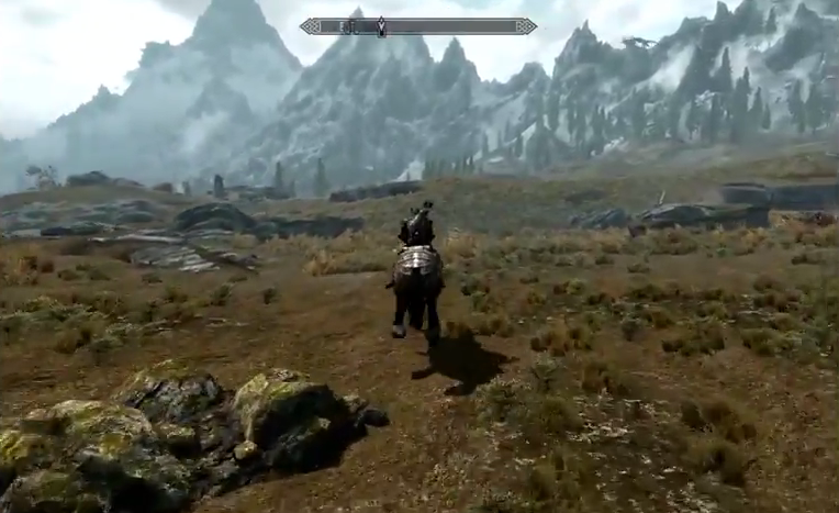 The Elder Scrolls Skyrim open world field empty space screenshot