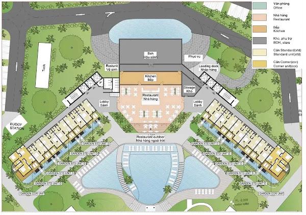bản vẽ thiết kế mặt bằng khu căn hộ trong dự án ixora Hồ Tràm
