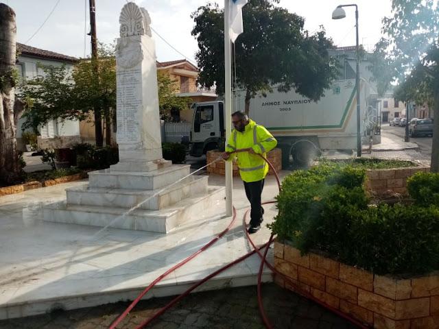 Εργασίες καθαριότητας από τον Δήμο Ναυπλιέων στην Τοπική Κοινότητα Αγίας Τριάδας