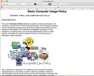 Sample Policy Banner Rich Text Document