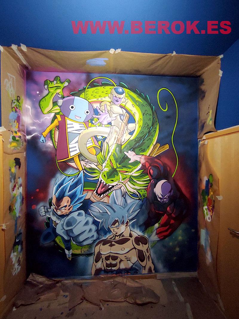 decoración de habitación juvenil de Dragon Ball
