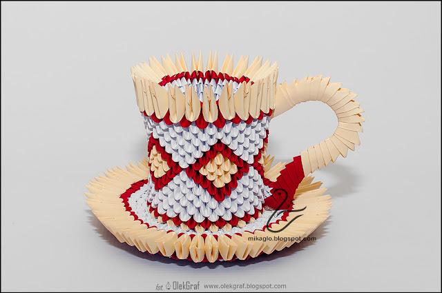 477. Filiżanki z origami / 3d origami coffee cup
