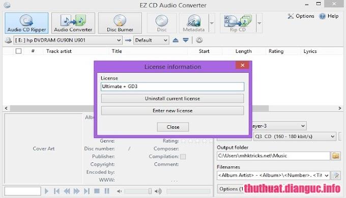 Ez Cd Audio Converter 7.1.8.1 Full Cr@ck – Phần mềm chuyển đổi Audio, tạo CD Audio chuyên nghiệp