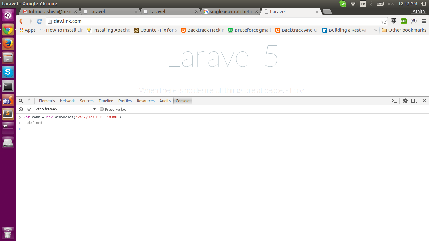 Use Web Socket for Chat in Laravel 5 (Using Ratchet for